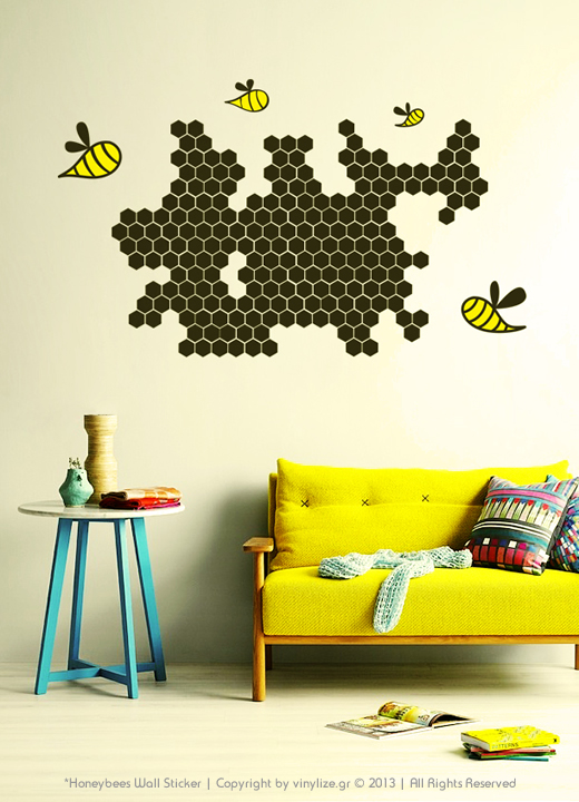 Vinylize Wall Deco - Honeybees Wall Sticker
