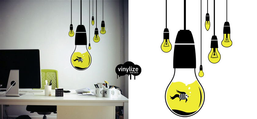 Vinylize Wall Deco - Hanging Bulbs - Wall Sticker