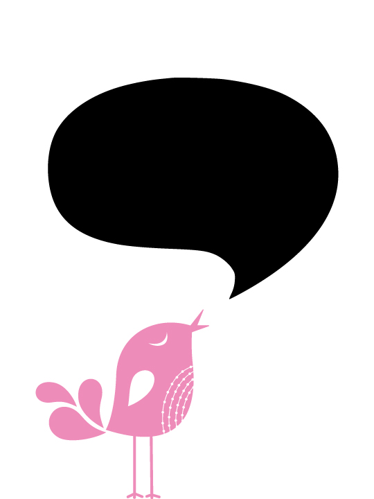 Vinylize Wall Deco - Blackboard Bird Sticker