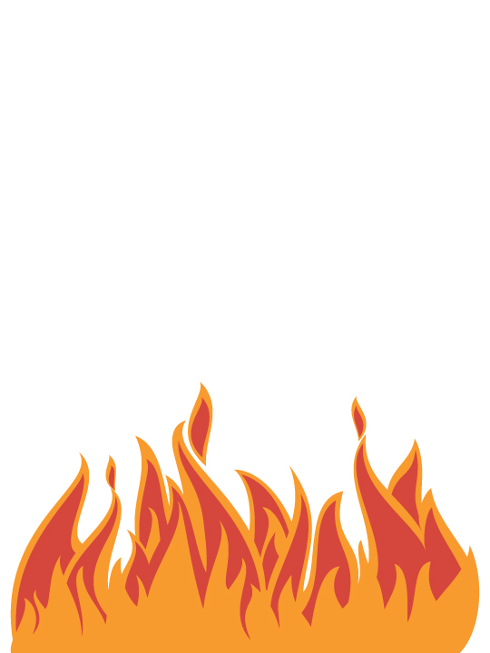 Vinylize Wall Deco - My Kitchen is on Fire - Wall Sticker