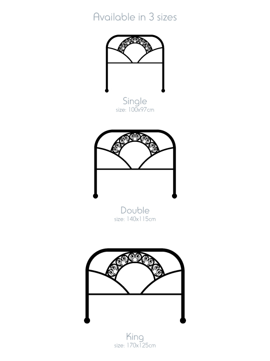 Art Deco Bed a Wall Sticker by Vinylize Wall Deco