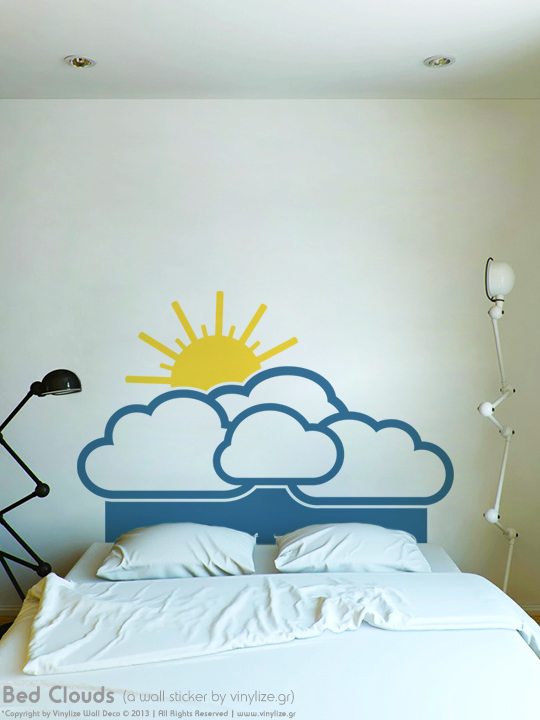 Bed Clouds a Wall Sticker by Vinylize Wall Deco