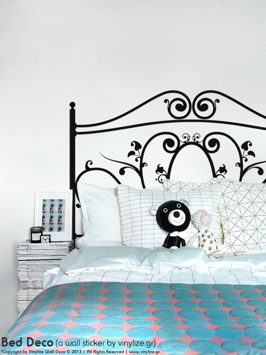 Bed Deco a Wall Sticker by Vinylize Wall Deco