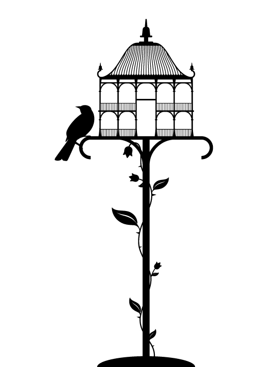 Bird House a Wall Sticker by Vinylize Wall Deco