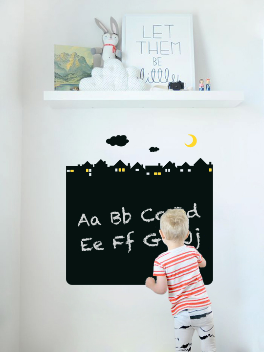 Blackboard Village a Wall Sticker by Vinylize Wall Deco