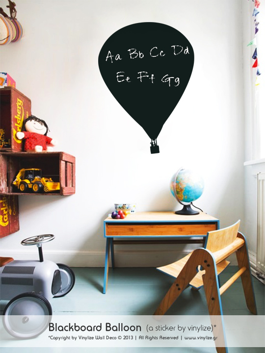 Blackboard Balloon a Wall Sticker by Vinylize Wall Deco