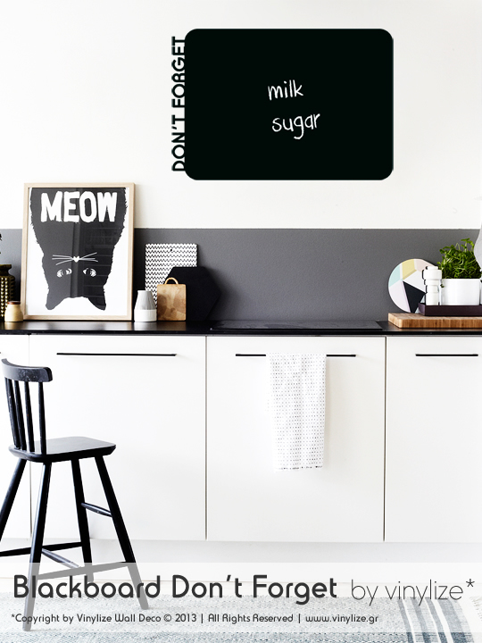 Blackboard Don't Forget a Wall Sticker by Vinylize Wall Deco
