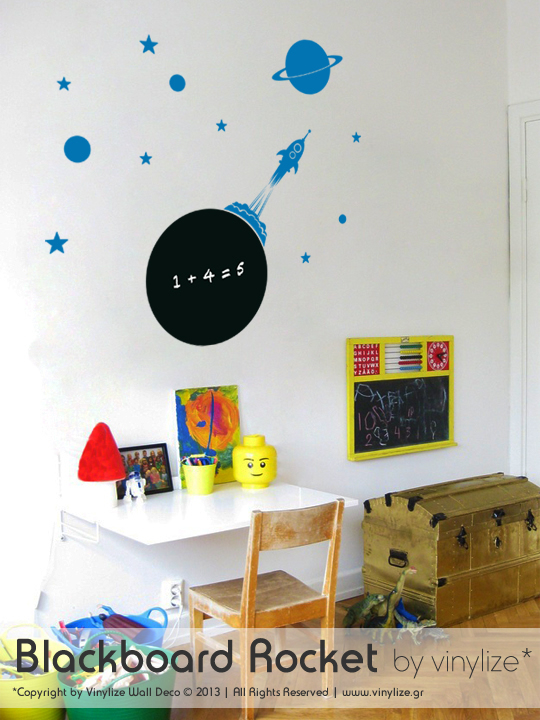 Blackboard Rocket a Wall Sticker by Vinylize Wall Deco