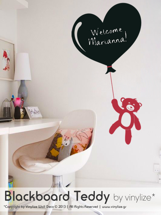 Blackboard Teddy a Wall Sticker by Vinylize Wall Deco