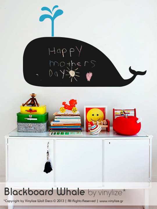 Blackboard Whale a Wall Sticker by Vinylize Wall Deco