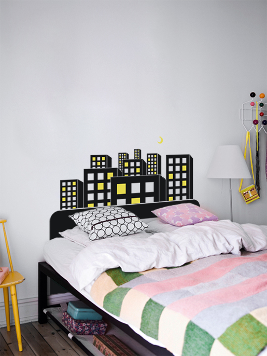 Block Bed a Wall Sticker by Vinylize Wall Deco
