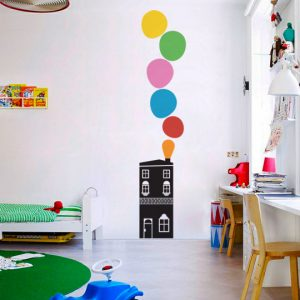 Vinylize Wall Deco - Bubble House - Wall Sticker