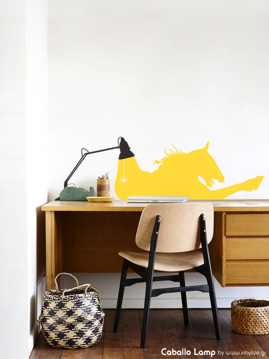Caballo Lamp a Wall Sticker by Vinylize Wall Deco