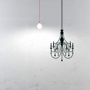 Chandelier a Wall Sticker by Vinylize Wall Deco