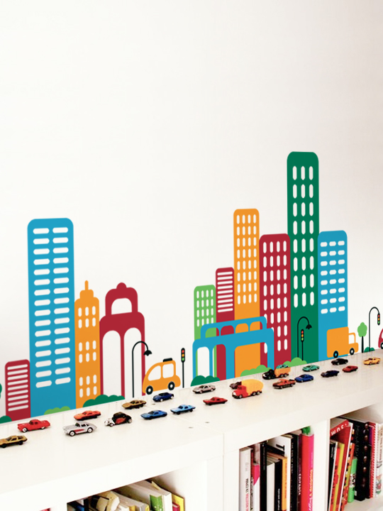 City Street a Wall Sticker by Vinylize Wall Deco