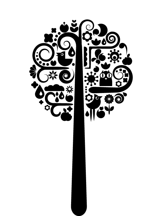 Coat Tree a Wall Sticker by Vinylize Wall Deco