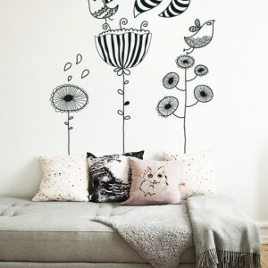 Doodle Birds a Wall Sticker by Vinylize Wall Deco