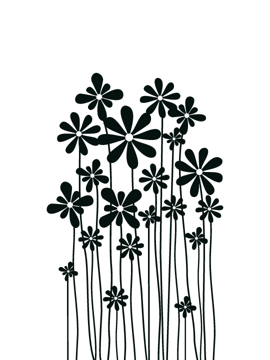 Vinylize Wall Deco - Flower Meadow - Wall Sticker