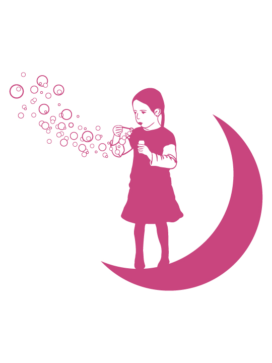 Girl on the Moon a Wall Sticker by Vinylize Wall Deco