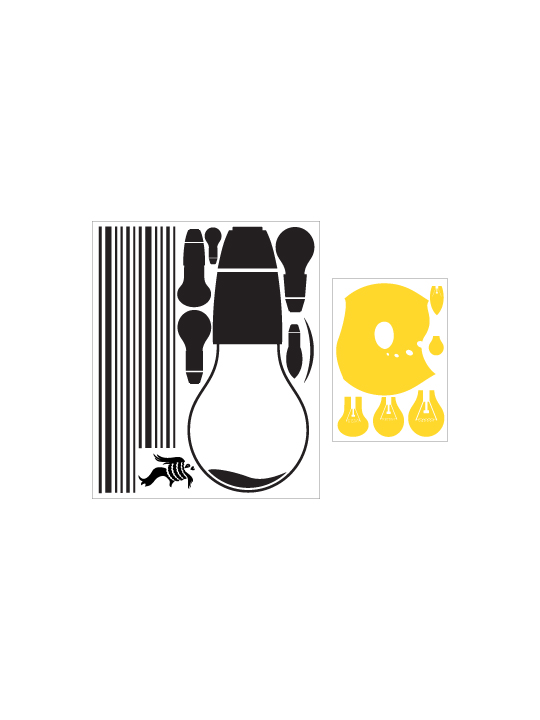 Hanging Bulbs a Wall Sticker by Vinylize Wall Deco