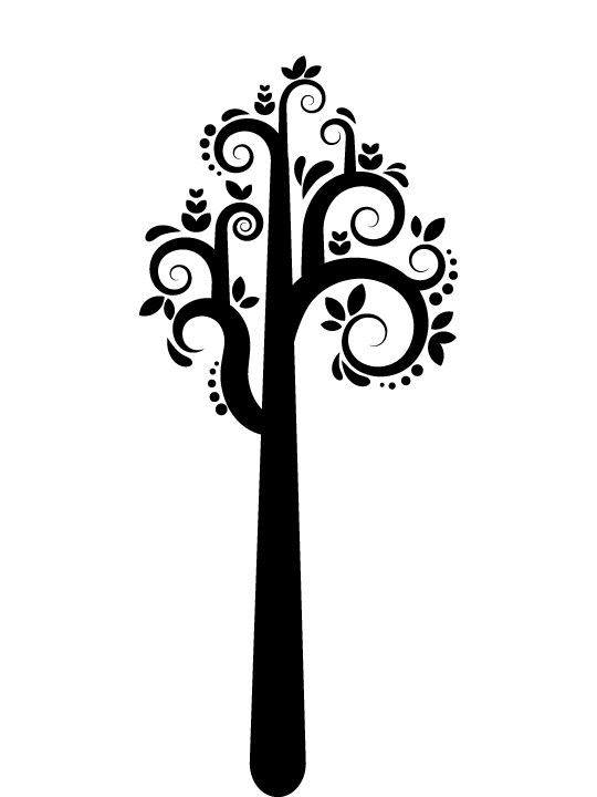 Vinylize Wall Deco - Hooked Tree - Wall Sticker