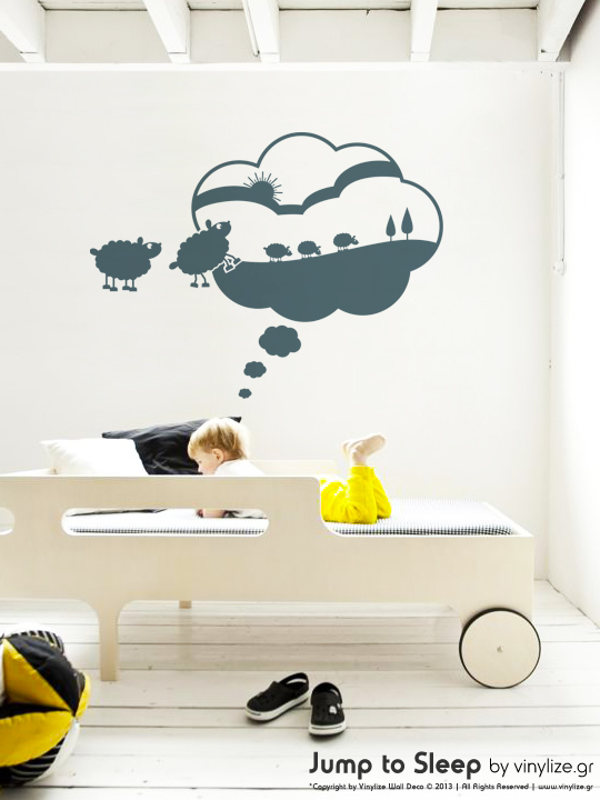 Vinylize Wall Deco - Jump to Sleep - Wall Sticker