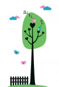 Love Birds Wall Sticker by Vinylize Wall Deco