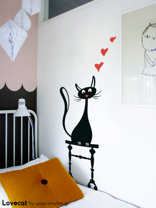 Vinylize Wall Deco - Lovecat - Wall Sticker