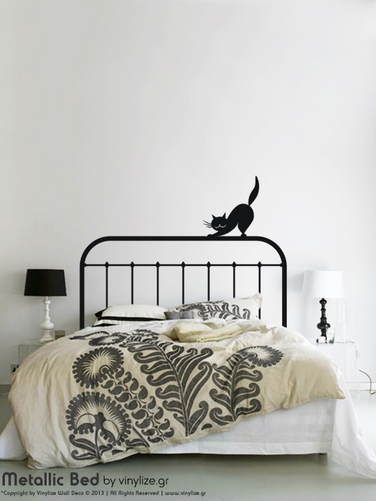 Metallic Bed a Wall Sticker by Vinylize Wall Deco