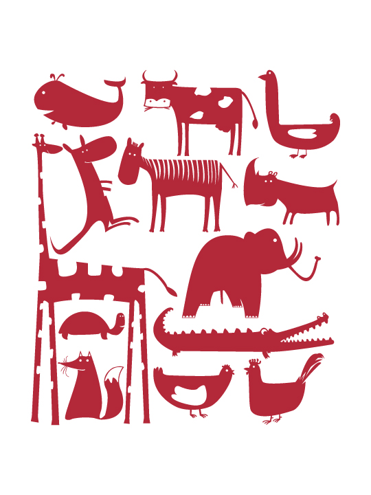 Mini Animals a Wall Sticker by Vinylize Wall Deco