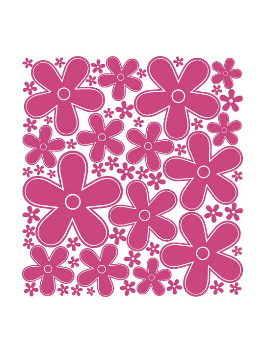 Mini Flowers a Wall Sticker by Vinylize Wall Deco