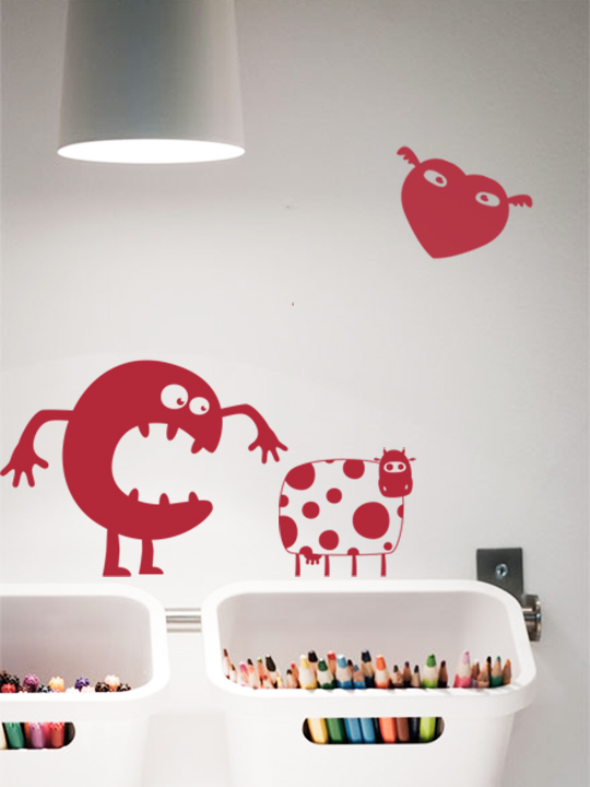 Mini Funny Monsters a Wall Sticker by Vinylize Wall Deco