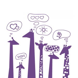 Mini Giraffes a Wall Sticker by Vinylize Wall Deco