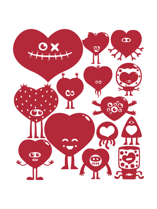 Mini Hearts a Wall Sticker by Vinylize Wall Deco