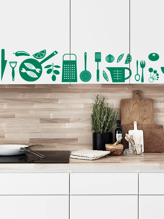 Mini Kitchen Set #3 a Wall Sticker by Vinylize Wall Deco