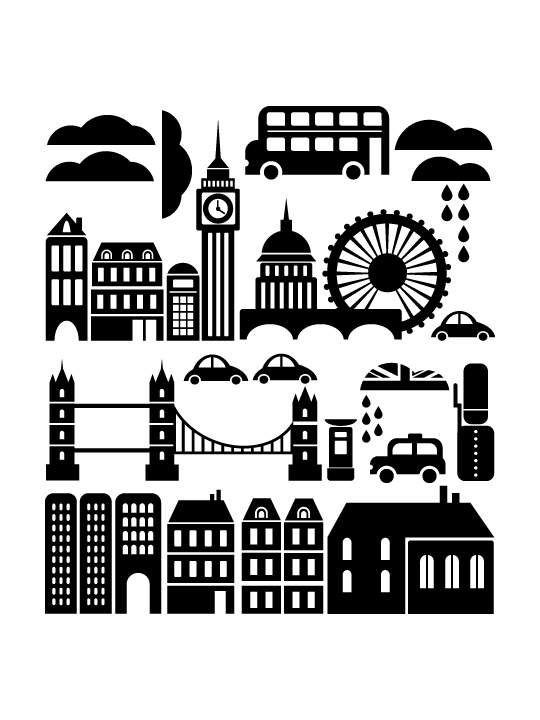 Mini London City a Wall Sticker by Vinylize Wall Deco