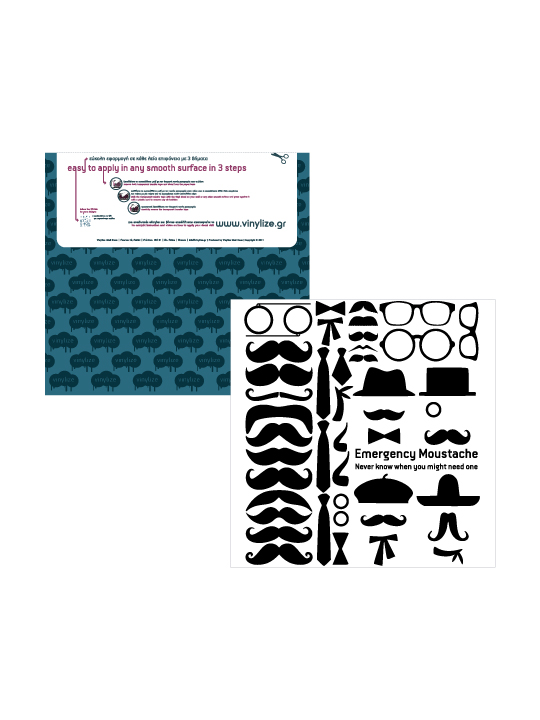 Mini Moustaches a Wall Sticker by Vinylize Wall Deco