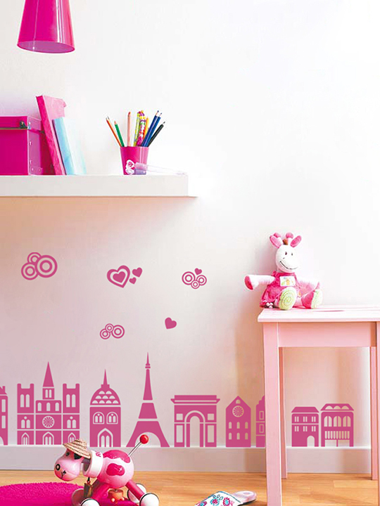 Mini Paris City a Wall Sticker by Vinylize Wall Deco