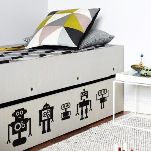 Mini Robots #1 a Wall Sticker by Vinylize Wall Deco