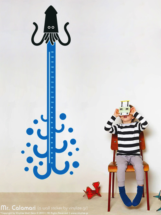 Vinylize Wall Deco - Mr. Calamari - Wall Sticker