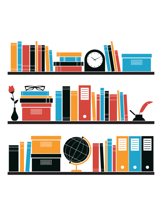 Vinylize Wall Deco - My Bookshelf Wall Sticker