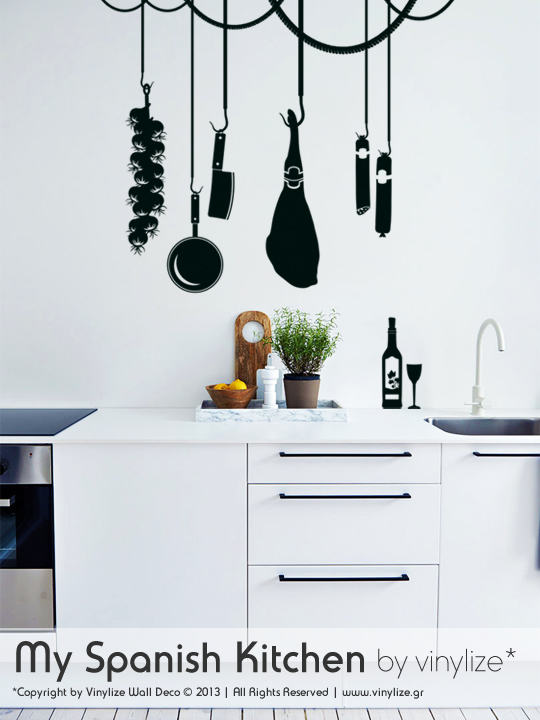 Vinylize Wall Deco - My Spanish Kitchen - Wall Sticker