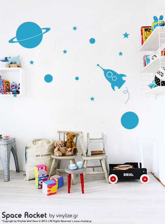Space Rocket a Wall Sticker by Vinylize Wall Deco
