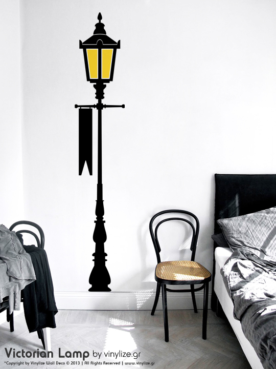 Victorian Lamp a Wall Sticker by Vinylize Wall Deco