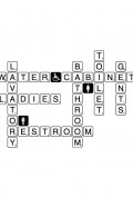 WC Scrabble a Wall Sticker by Vinylize Wall Deco