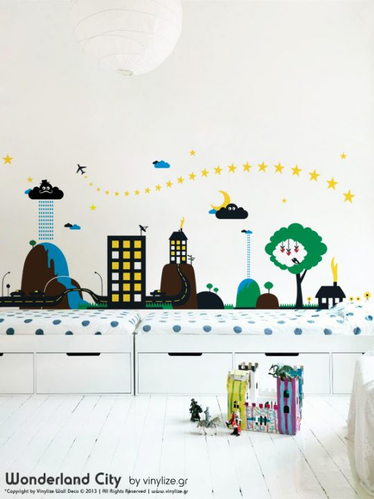 Vinylize Wall Deco - Wonderland City - Wall Sticker