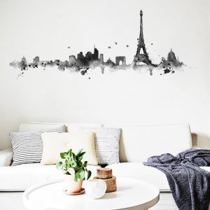 [:en]Inky Paris Wall Sticker by Vinylize Wall Deco[:el]Inky Paris - Αυτοκόλλητο Τοιχου Vinylize Wall Deco