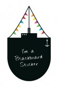 Blackboard Ship a Wall Sticker by Vinylize Wall Deco