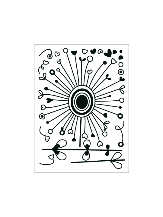 Doodle Dandelion a Wall Sticker by Vinylize Wall Deco