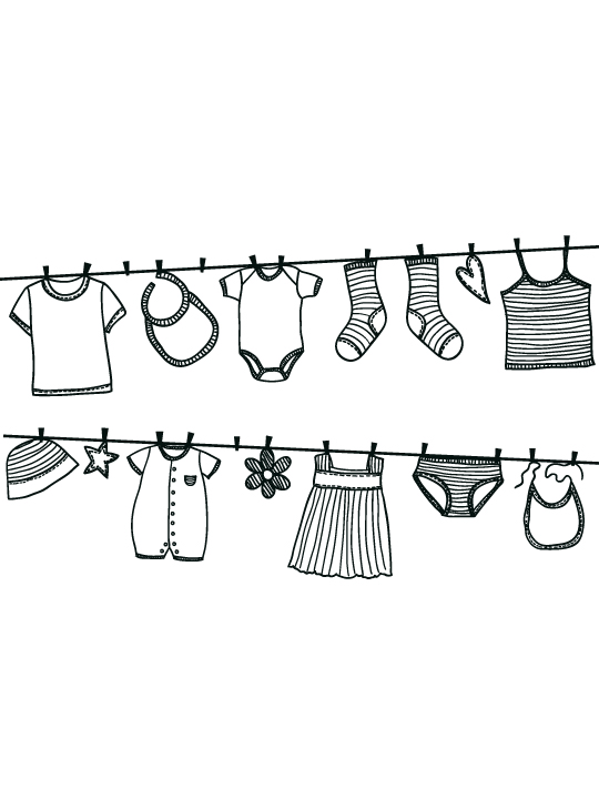 Vinylize Wall Deco - Hanging Clothes - Wall Sticker